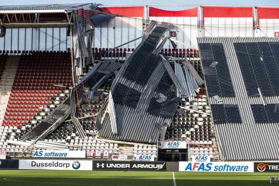 Stadion-Dach von Erstligist stürzt ein!