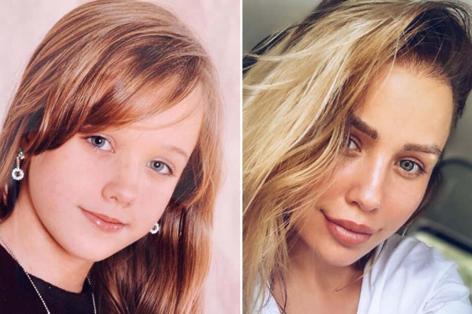 Auf Instagram zeigt sich Kim Gloss (26) als Schulkind.