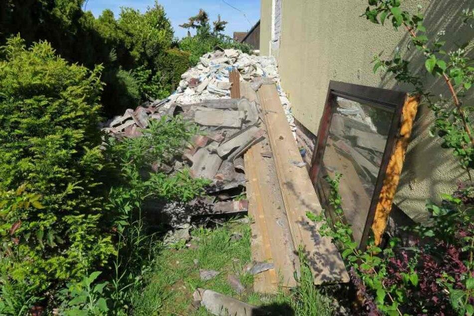 Der Abriss des Wohnhauses musste umgehend gestoppt werden.