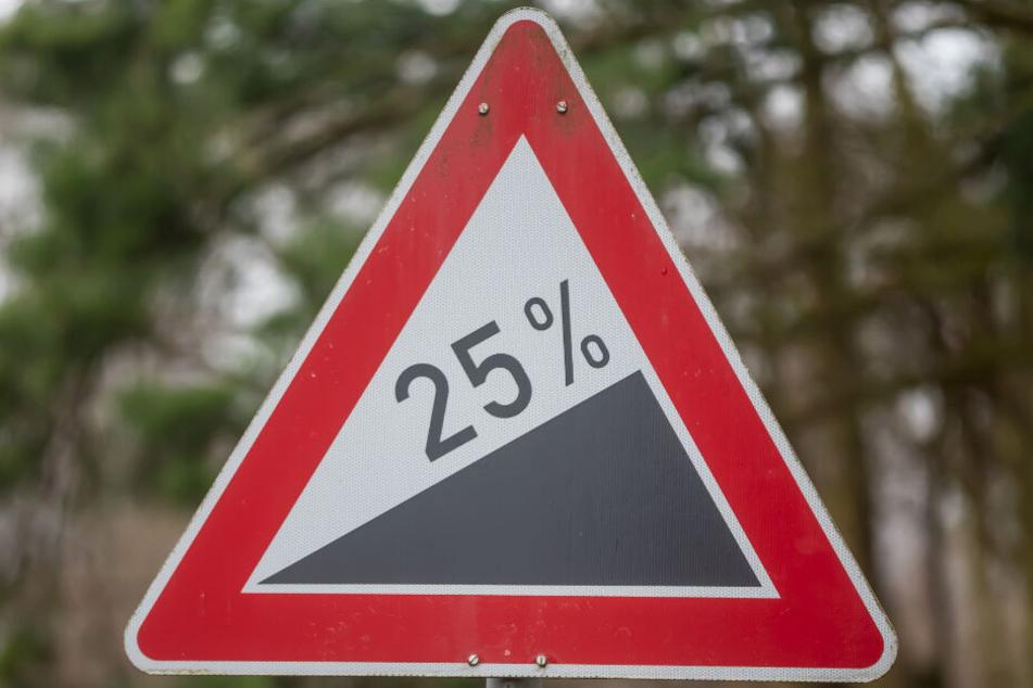 25 Prozent Steigung sind kein Pappenstiel.