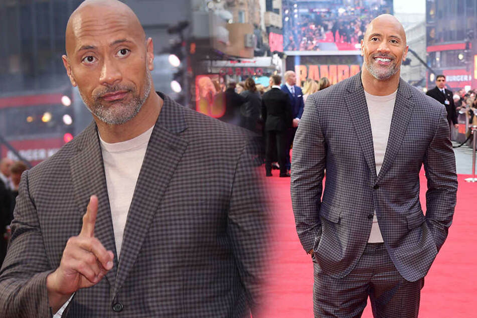 "Dwayne ""The Rock"" Johnson bei der Europapremiere von ""Rampage - Big Meets Bigger"" am 11. April 2018 in London."