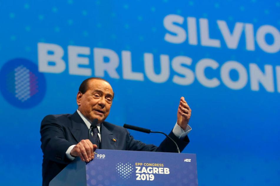Silvio Berlusconi spricht während des Kongresses der Europäischen Volkspartei im November in Zagreb.