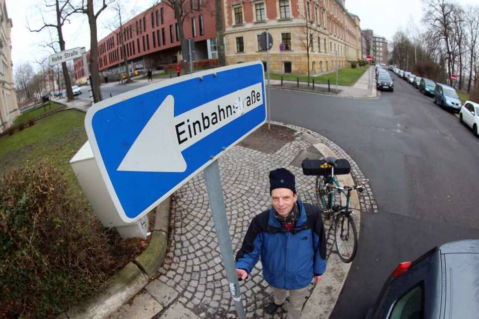 Er setzt sich für die Rechte der Fahrradfahrer in Chemnitz ein: Ralph Sontag.