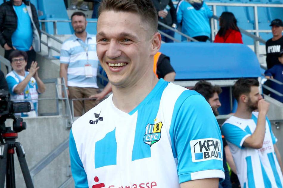 Daniel Frahn freut sich auf das Spiel gegen Lok Leipzig.