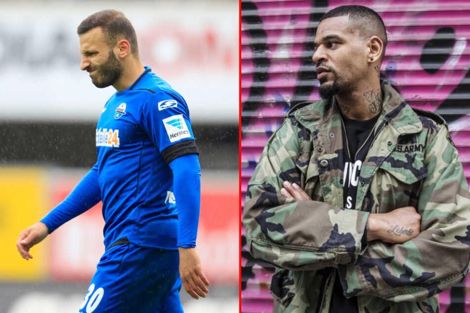 Ähnliche Vergangenheit: Ex-SCP-Kicker Süleyman Koc (li.) und Daniel Keite-Ruel (re.).