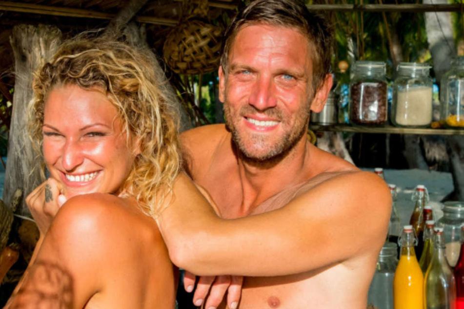"""Seit der Sendung """"Adam sucht Eva"""" sind sie ein Paar - nun gibt es """"öffentlichen"""" Nachwuchs."""