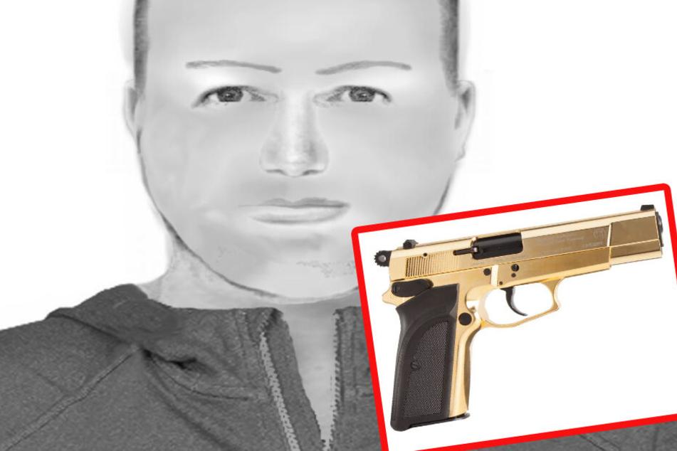 Fahndung: Wo ist der Tankstellen-Räuber mit der goldenen Pistole?