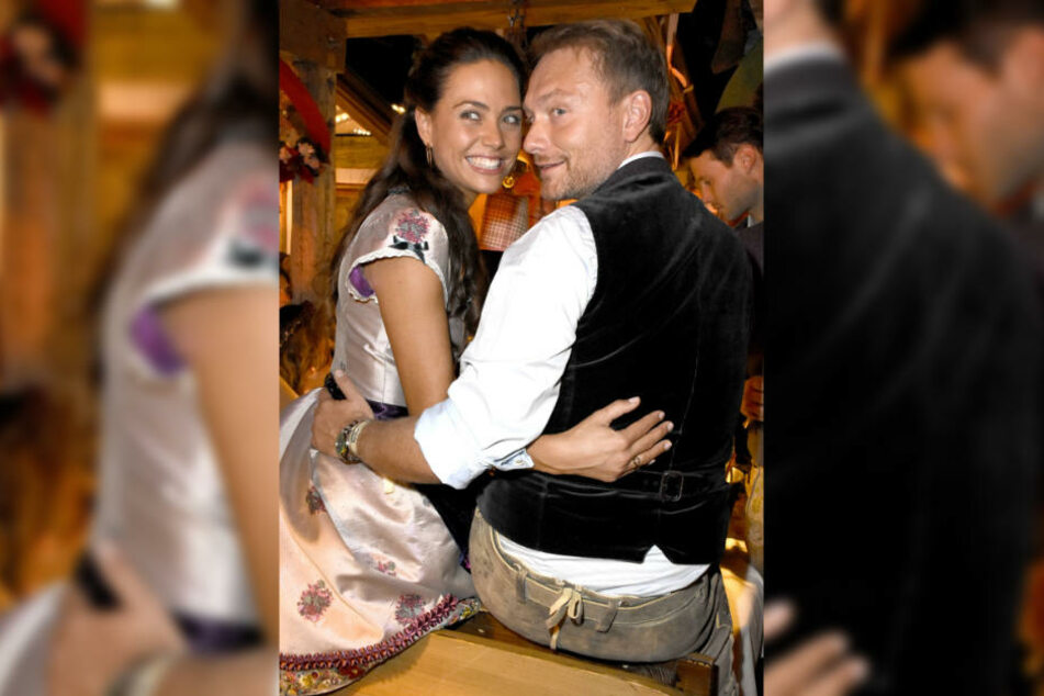 Süßes Paar: Christian Lindner (39) und Franca Lehfeld (28) in der Käfer-Wiesnschänke.
