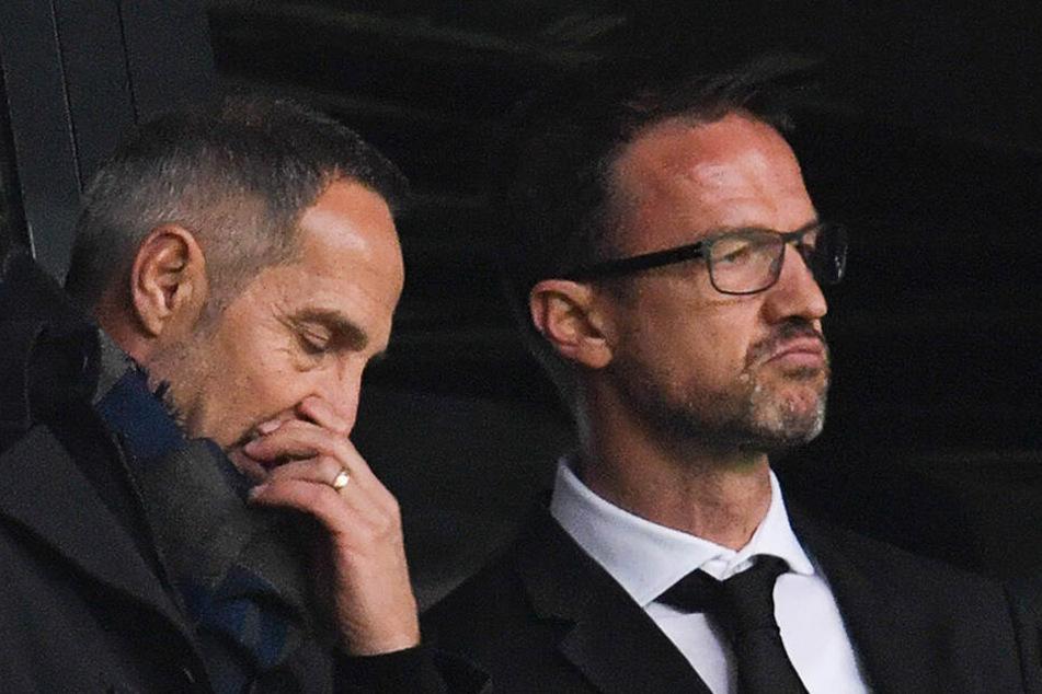 Trainer Adi Hütter und Sportvorstand Fredi Bobic basteln am Kader für die kommende Saison.