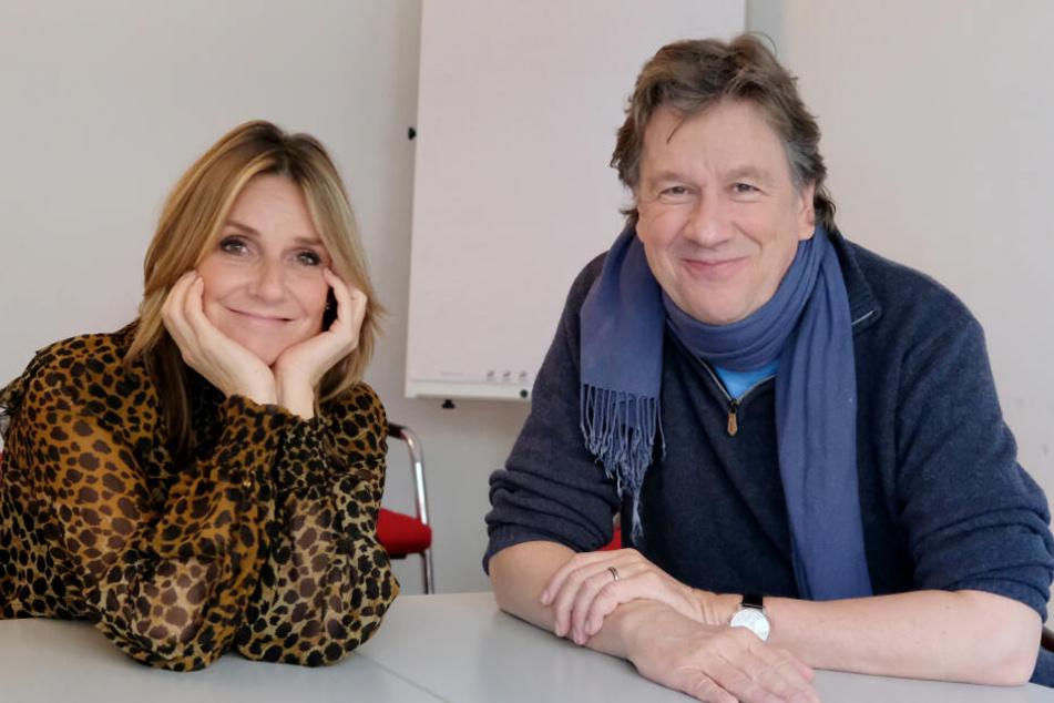Kim Fisher und Jörg Kachelmann gewähren einen Blick hinter die Kulissen von Riverboat.