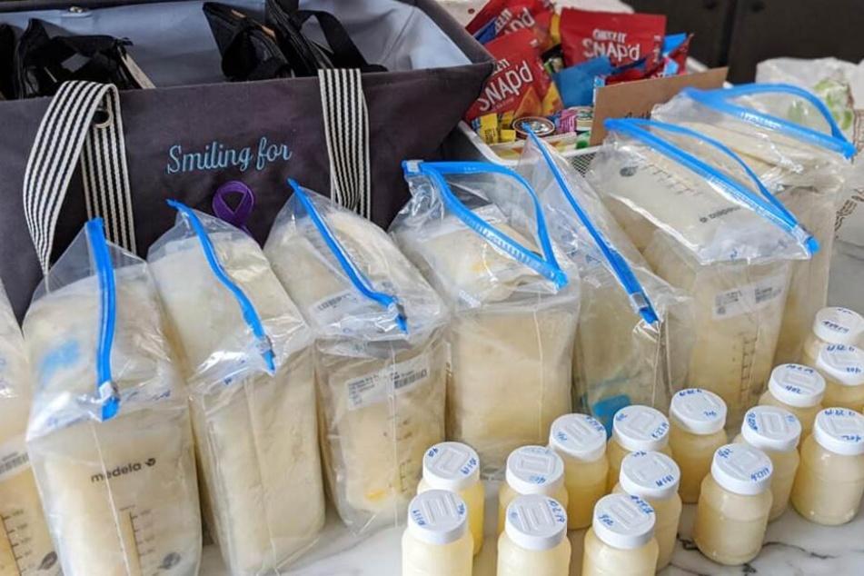 Knapp 15 Liter Muttermilch spendete Sierra Strangfeld für bedürftige Babys.