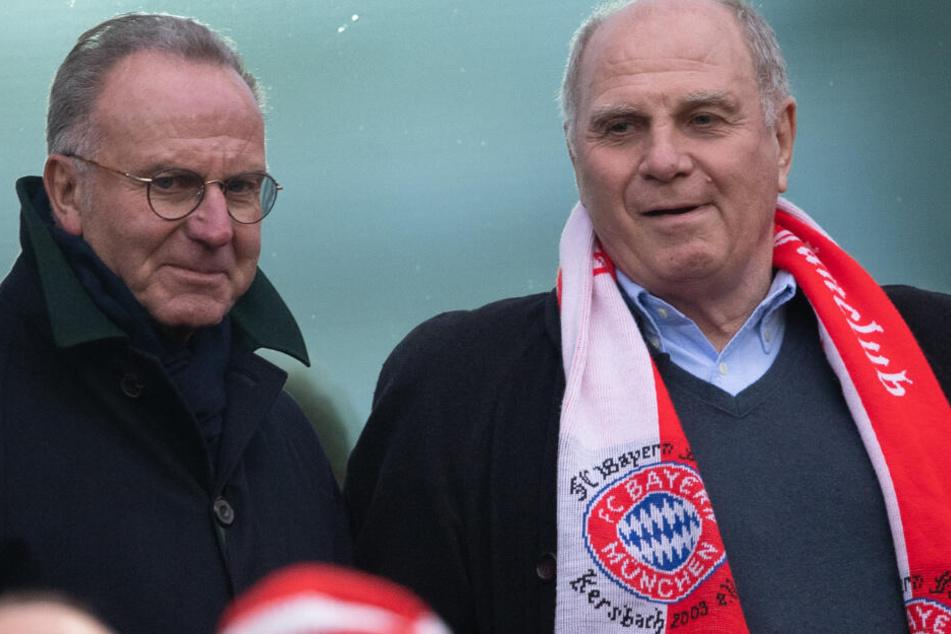 Karl-Heinz Rummenigge (l.) und Uli Hoeneß (r.) leiten die Geschicke des FC Bayern.