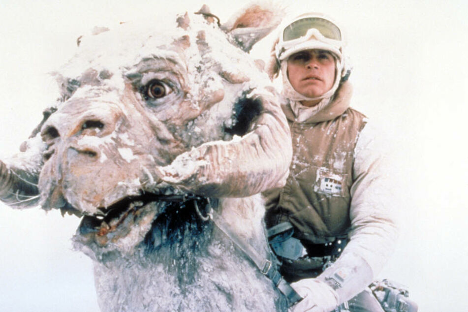"""Luke Skywalker auf dem Eisplaneten Hoth. Am 5. Januar können Star-Wars-Fans """"Das Imperium schlägt zurück"""" zusammen mit einem Sinfonieorchester in der Arena Leipzig erleben."""