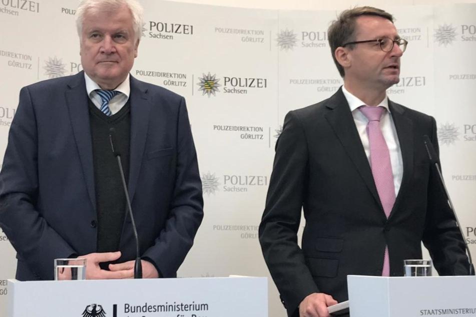 Seehofer beim Besuch in Bautzen.