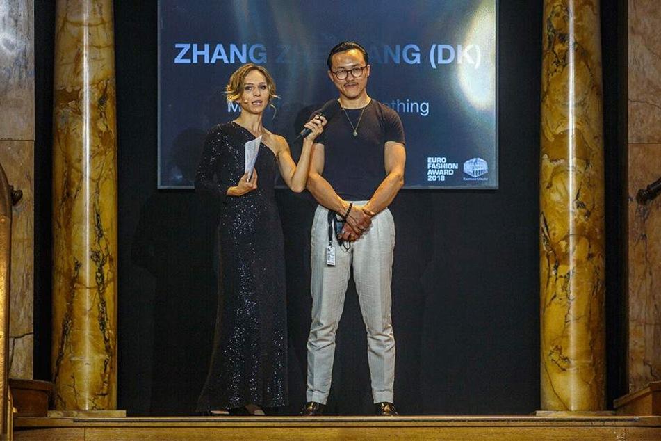Designer Zhang Zheqang gewann den Euro Fashion Award in Görlitz.