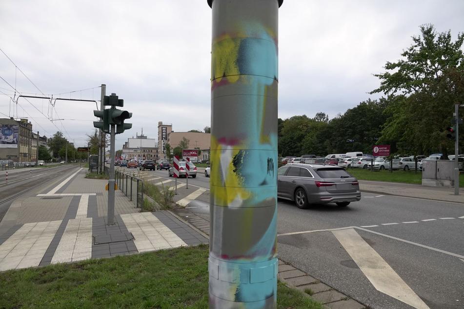 Es geht wieder los! Blitzer in Chemnitz besprüht
