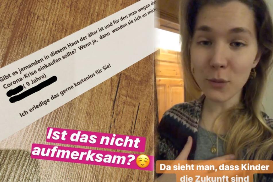 Leipzig: Süßer Zettel bei GNTM-Tatjana: 9-Jähriger bietet wegen Corona-Krise Hilfe an
