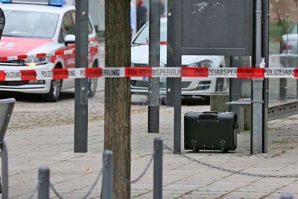 In der Zwickauer Innenstadt wurde ein herrenloser Koffer entdeckt.