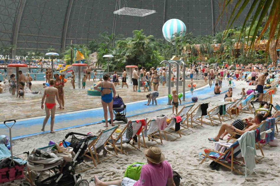 Gut besucht ist das Tropical Island: Zahlreiche Besucher aus Berlin, Brandenburg und sogar Polen nutzen das Freizeitbad.