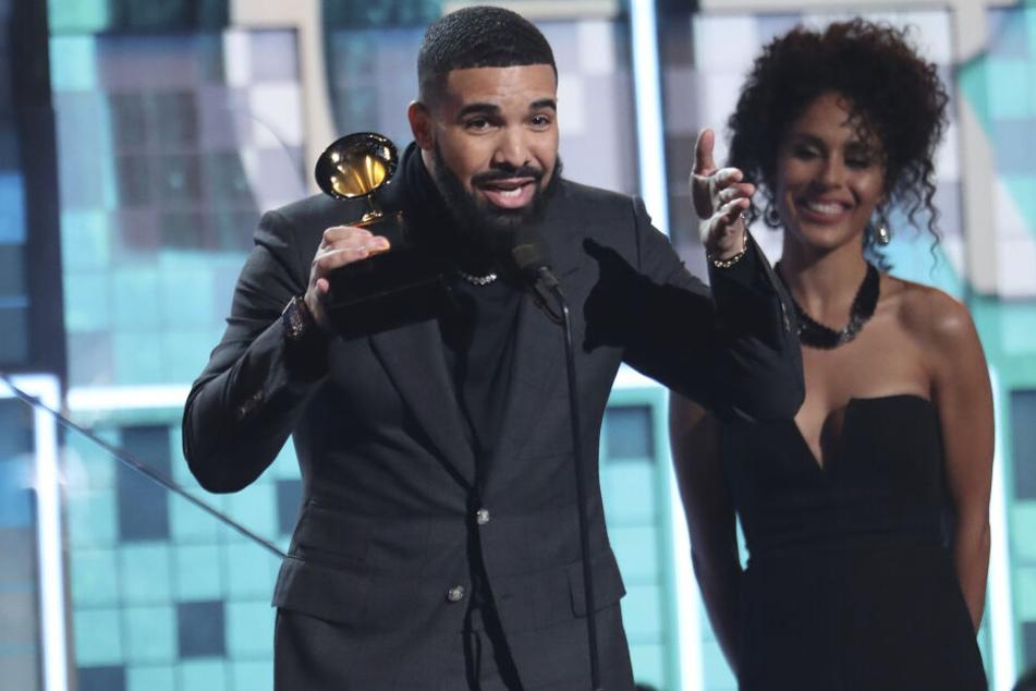 Drake nimmt im Rahmen der 61. Grammy Awards im Staples Center die Auszeichnung für den besten Rap-Song für «God's Plan» entgegen.