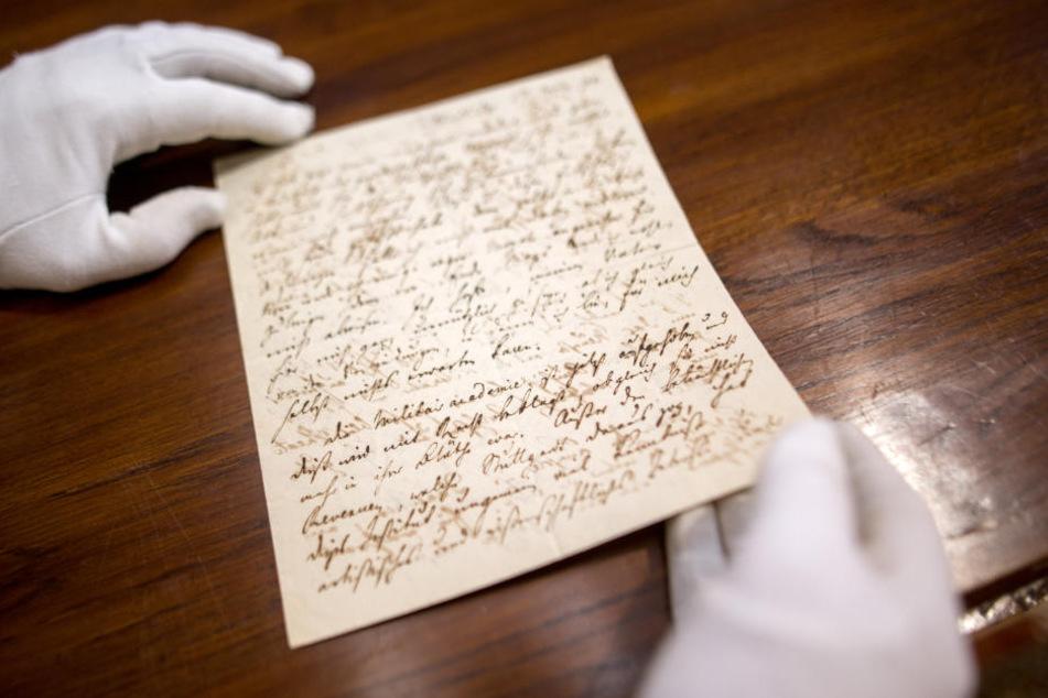 Dieser Brief von Dichter Friedrich Schiller kommt auch unter den Hammer.