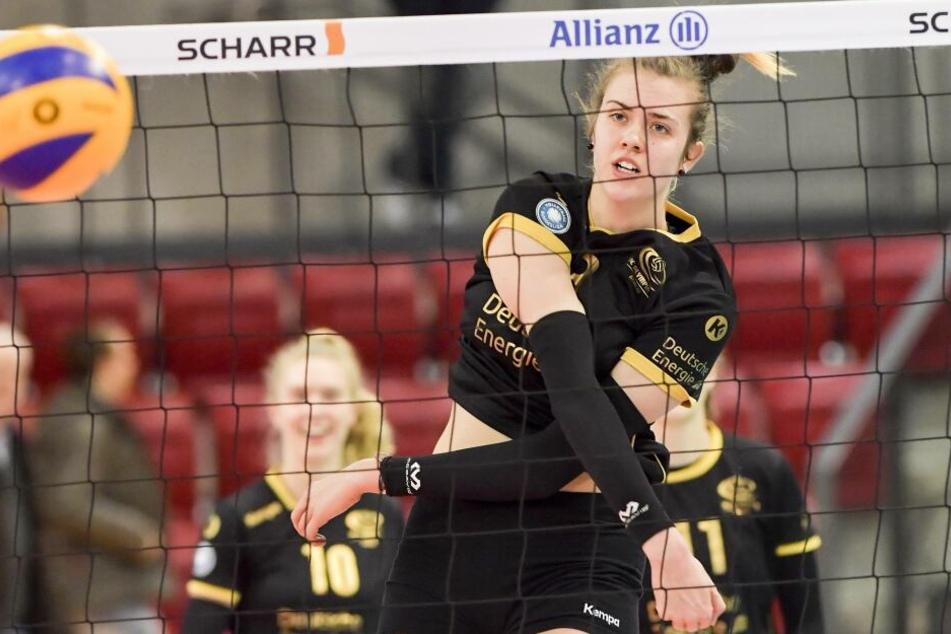Emma Cyris war zwei Jahre lang Stammspielerin in der ersten Liga beim VC Olympia Berlin.