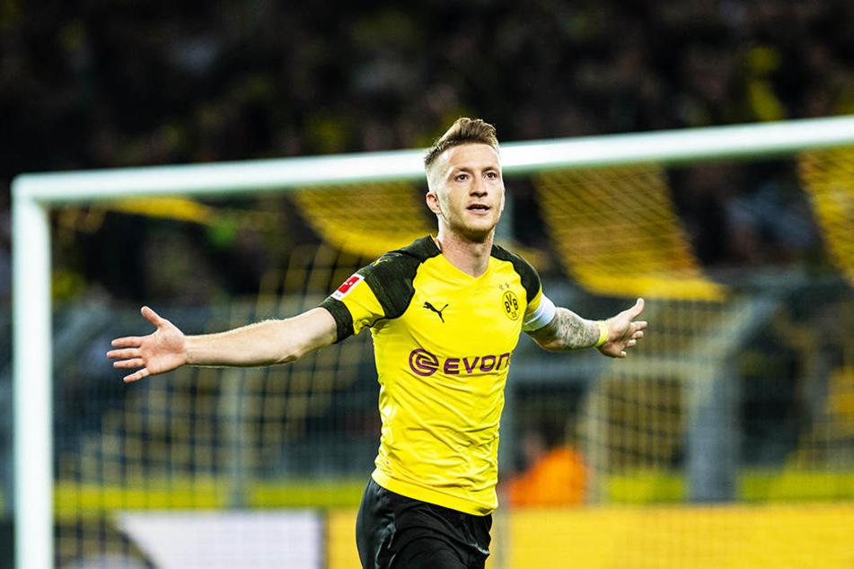 Ist diese Saison überragend in Form und einer der Gründe, warum es beim BVB momentan so gut läuft: Dortmunds Kapitän Marco Reus.