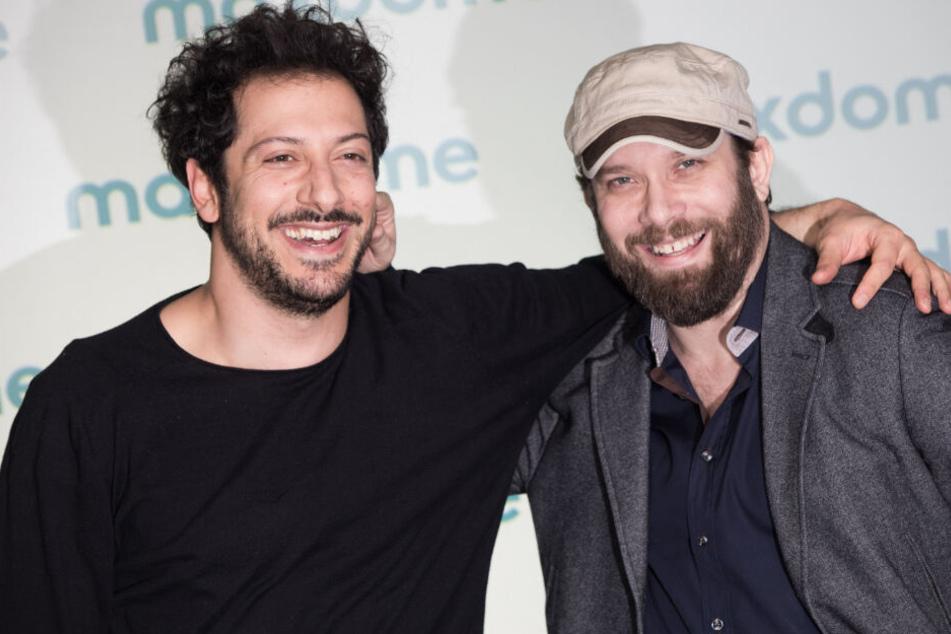 Die Schauspieler Fahri Yardim (l) und Christian Ulmen.