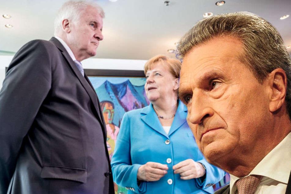 Oettinger fordert von CSU mehr Zeit für Merkel
