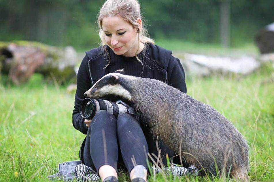 Sarah Jonek kam den Tieren in Olderdissen ziemlich nah.