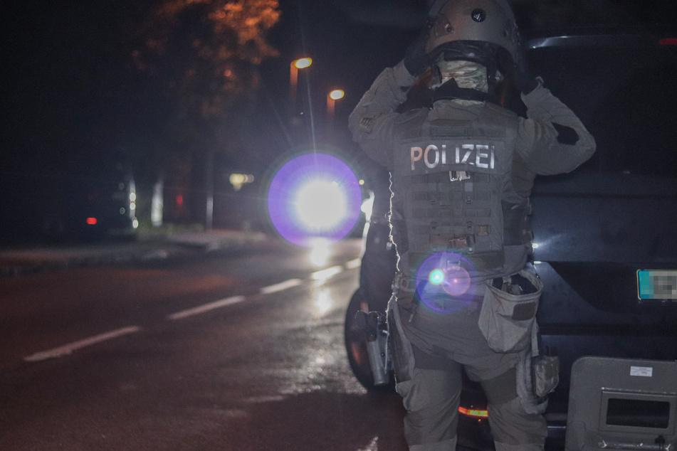 Das SEK vor Ort beim Einsatz in Sulzbach.