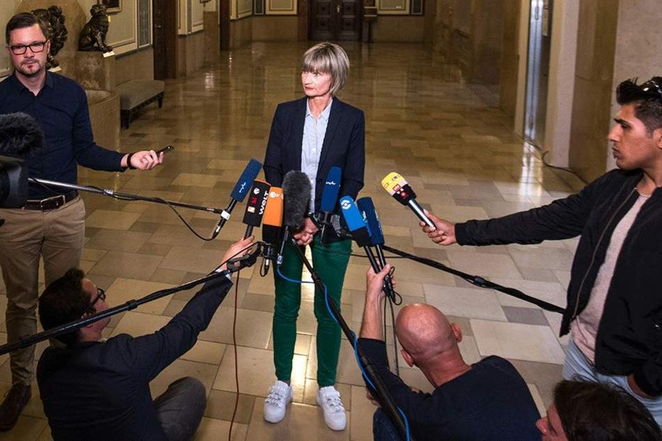 Barbara Ludwig stellte sich den Fragen zu den Demos - im Rathaus.