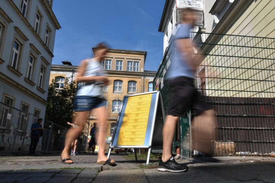 Ordentlich Zulauf im Wahllokal Neustadt Hohensteiner Straße.
