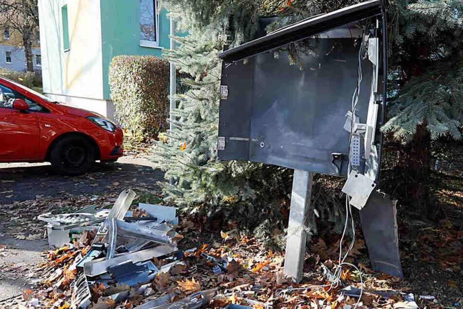 Der Automat wurde bei der Sprengung vollständig zerstört. (Archivbild)