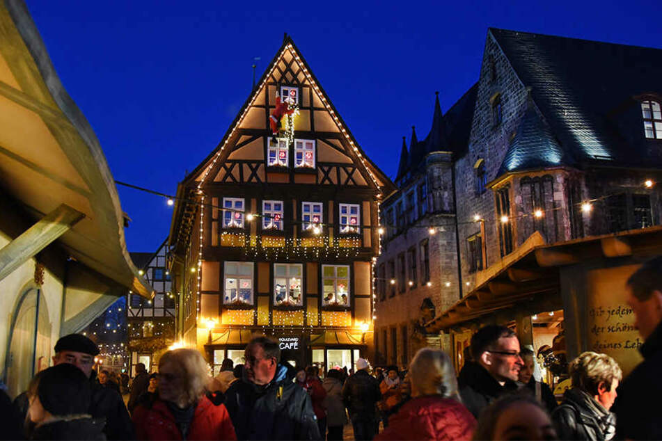 Gut 110.000 Menschen zog es 2017 zum Weihnachtsmarkt nach Quedlinburg.