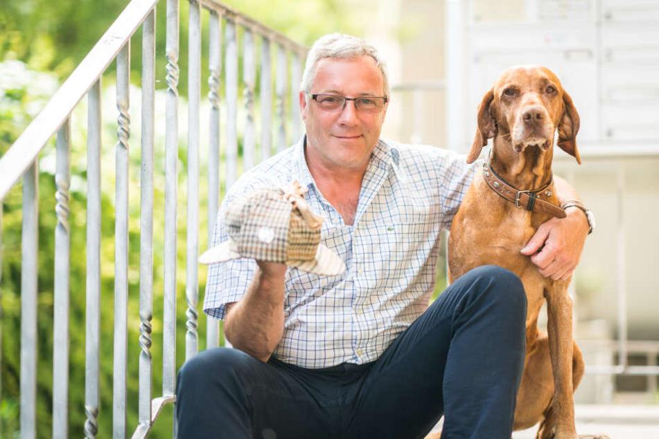 Immer an der Seite von Privatdetektiv Lutz Peschel (60): Spürhund Elek (9), ein Ungarischer Vorstehhund.