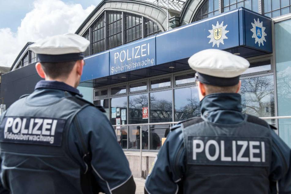 Die Bundespolizisten nahmen den Schwarzfahrer mit auf die Wache am Hamburger Hauptbahnhof (Archivbild).
