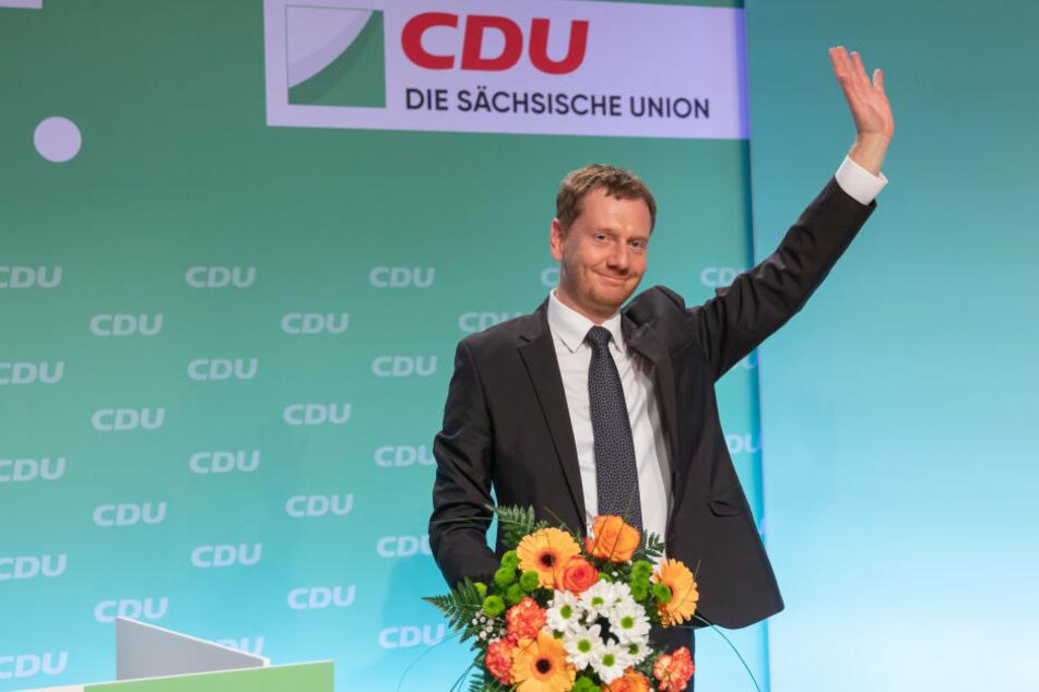 Michael Kretschmer (44, CDU) nach seiner Wiederwahl.