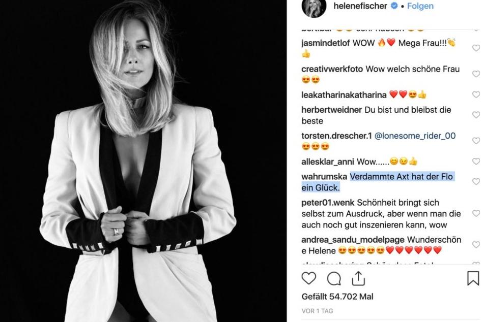 Helene fischer verführt ihre 500.000 Follower wieder bei Instagram.