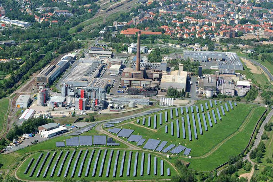 Die ehemalige Recyclinganlage von SolarWorld in Freiberg.