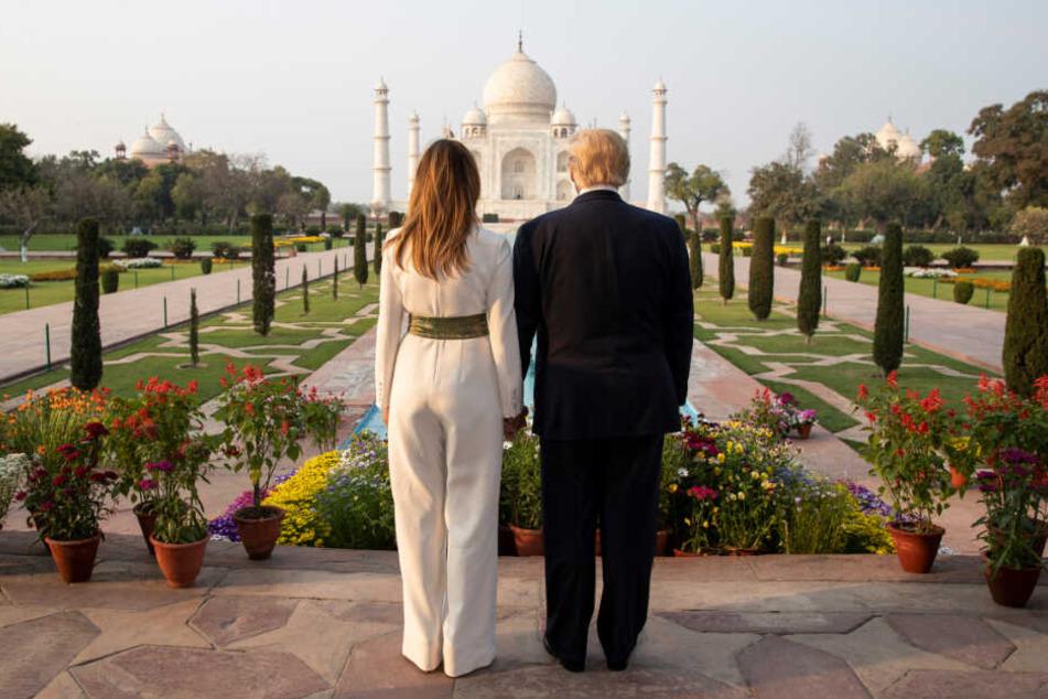 Während ihres zweitägigen Staatsbesuchs in Indien besuchen Donald und Melania auch bekannte Sehenswürdigkeiten wie das Taj Mahal.
