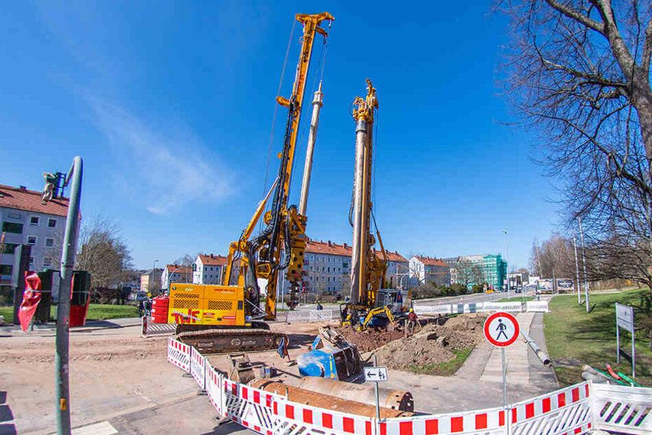 Wochenlange Vollsperrung: Hier geht in Chemnitz nichts mehr