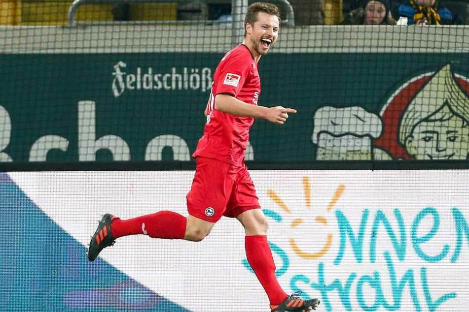 Julian Börner freute sich über seinen Treffer zum 3:4.