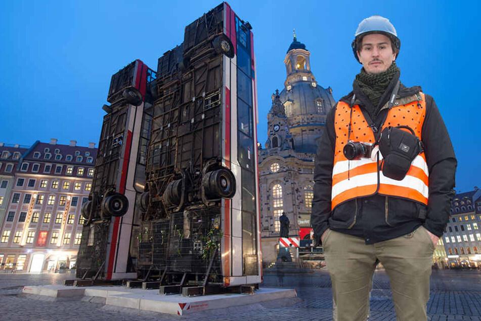 Bus-Künstler verwundert über scharfe Diskussionen in Dresden
