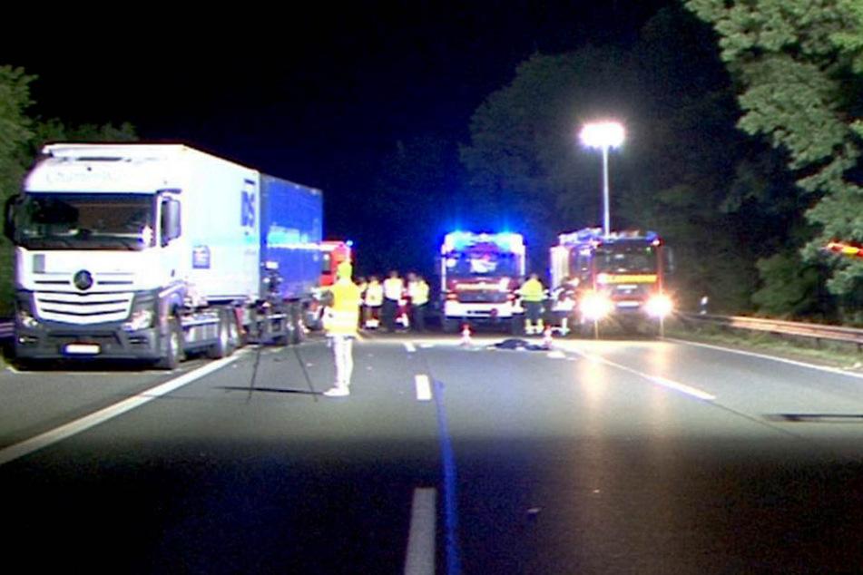 Tödlicher Unfall: Frau rennt nach Streit auf Autobahn