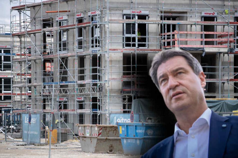 Wie bleiben Wohnungen bezahlbar? Spitzentreffen mit Söder in München