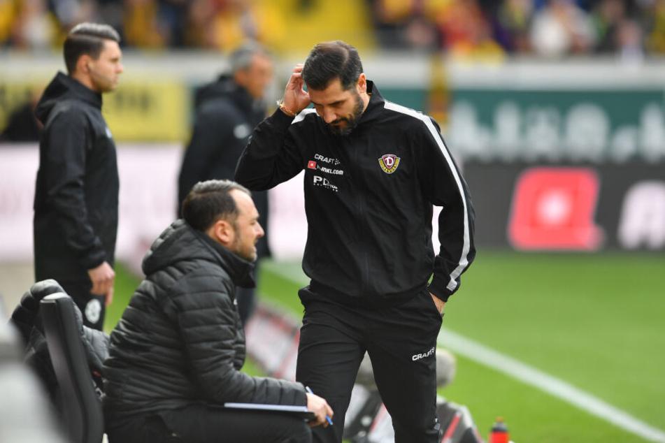 Fiel beriet sich immer wieder mit seinem Co-Trainer Patrick Mölzl.