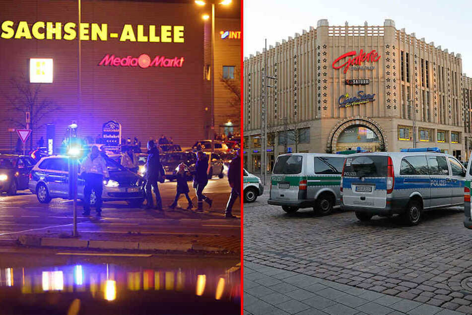 Nach Bombendrohungen in Chemnitz: Polizei sucht nach Tätern