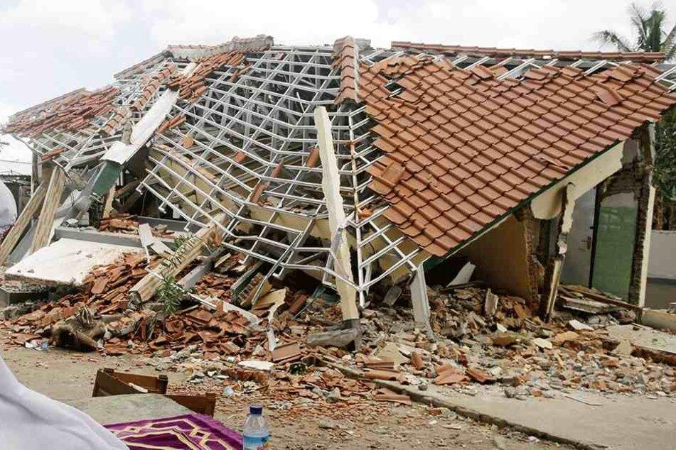 Bereits am 5.8. wurde Lombok von einem Erdbeben erschüttert.