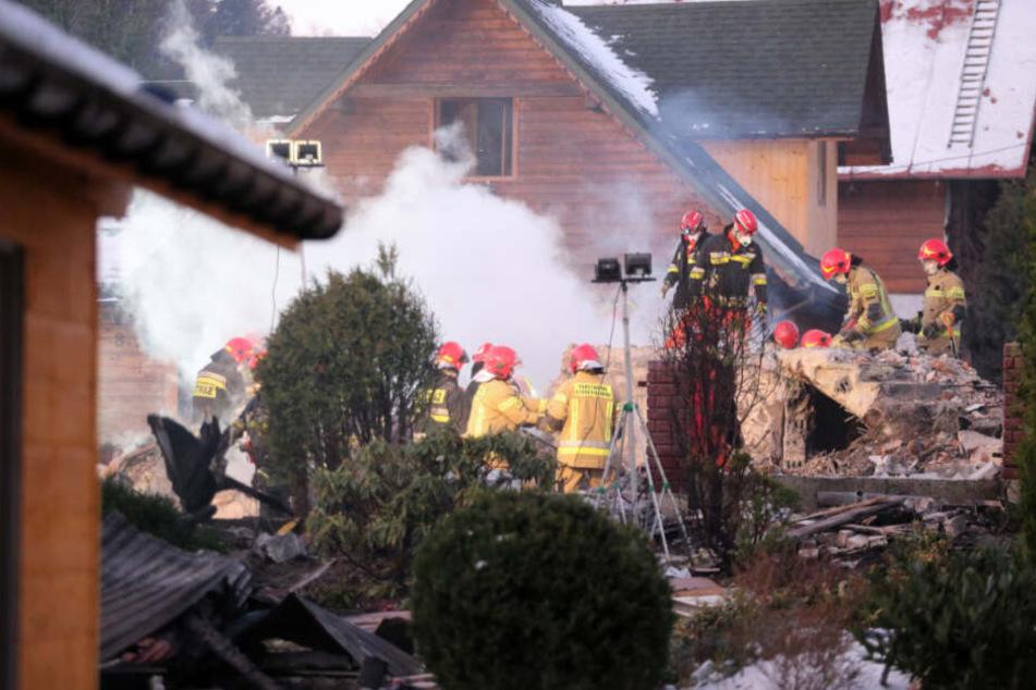 Bei der Explosion sind in dem Einfamilienhaus acht Menschen ums Leben gekommen, darunter vier Kinder.